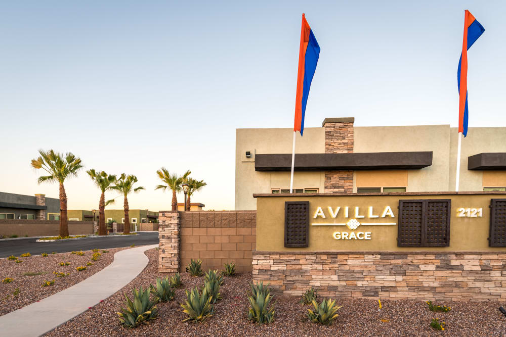 Entrance to Avilla Grace in Chandler, Arizona