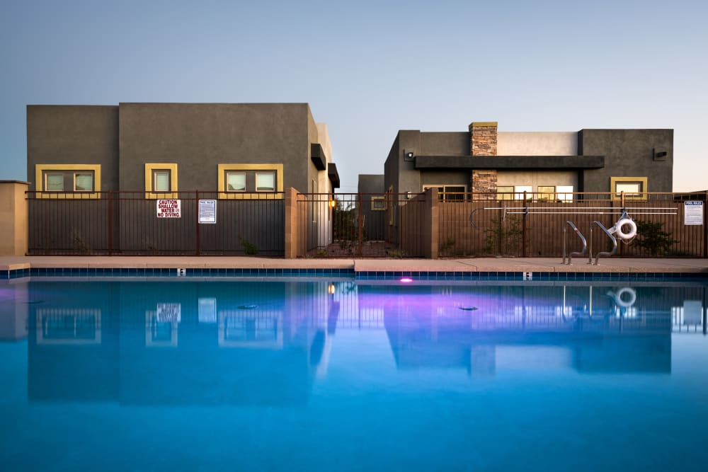Enjoy a sparkling swimming pool at Avilla Grace in Chandler, Arizona