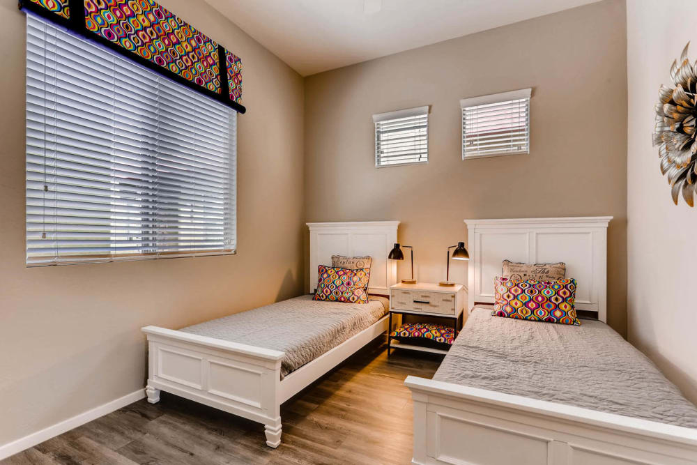 State-of-the-art bedroom at Avilla Lehi Crossing in Mesa, Arizona
