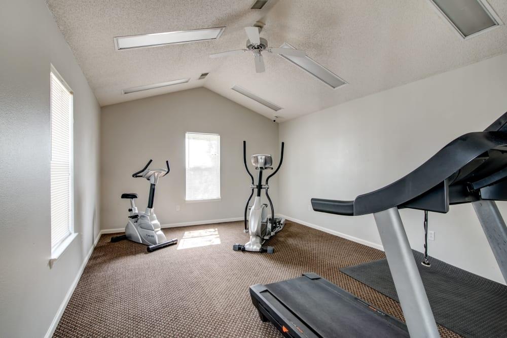 A fitness center at Cedar Ridge in La Vergne, Tennessee