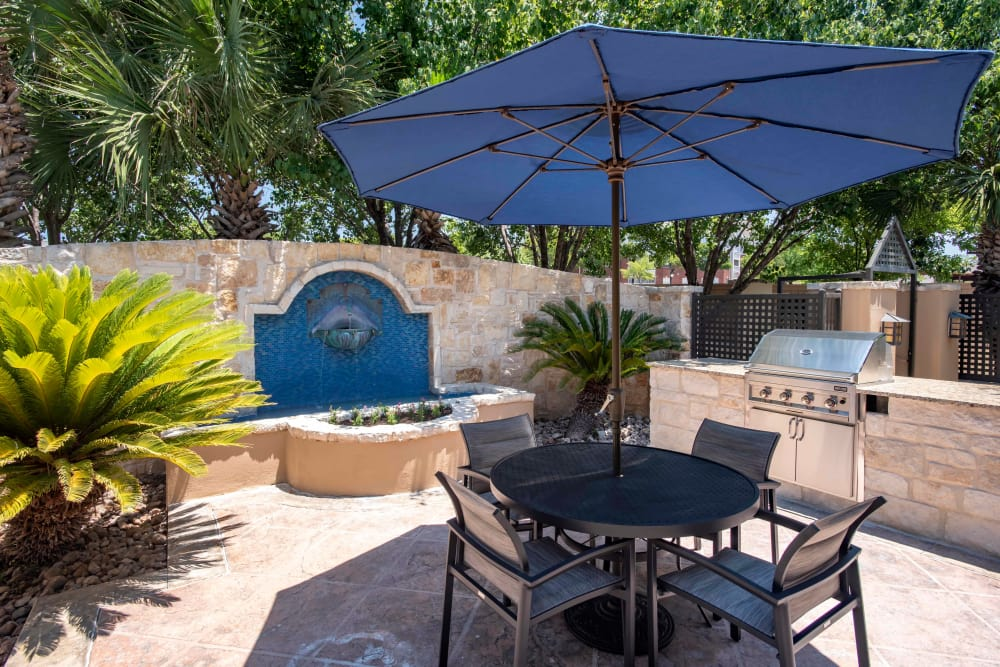 Spacious private patio at The Quarry Townhomes in San Antonio, Texas