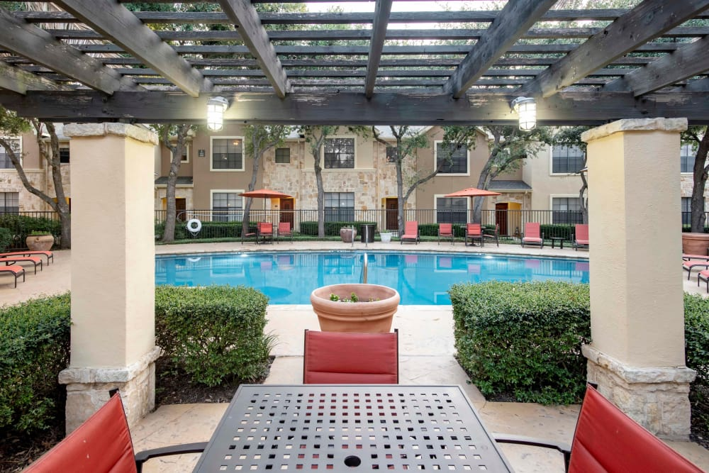 Our apartments in San Antonio, Texas showcase a beautiful swimming pool