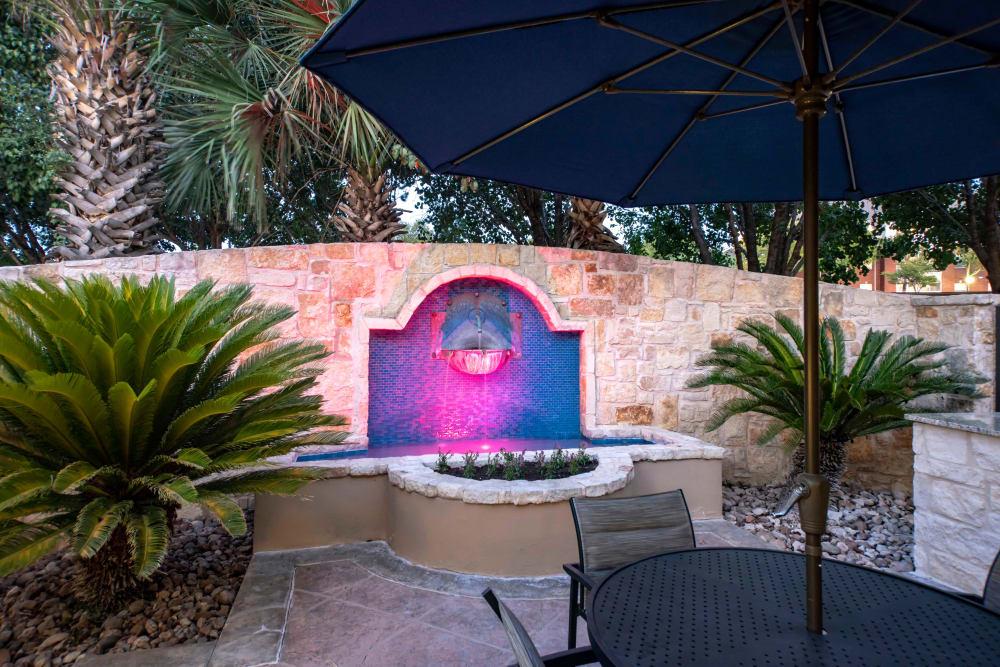 Spacious private patio at apartments in San Antonio, Texas
