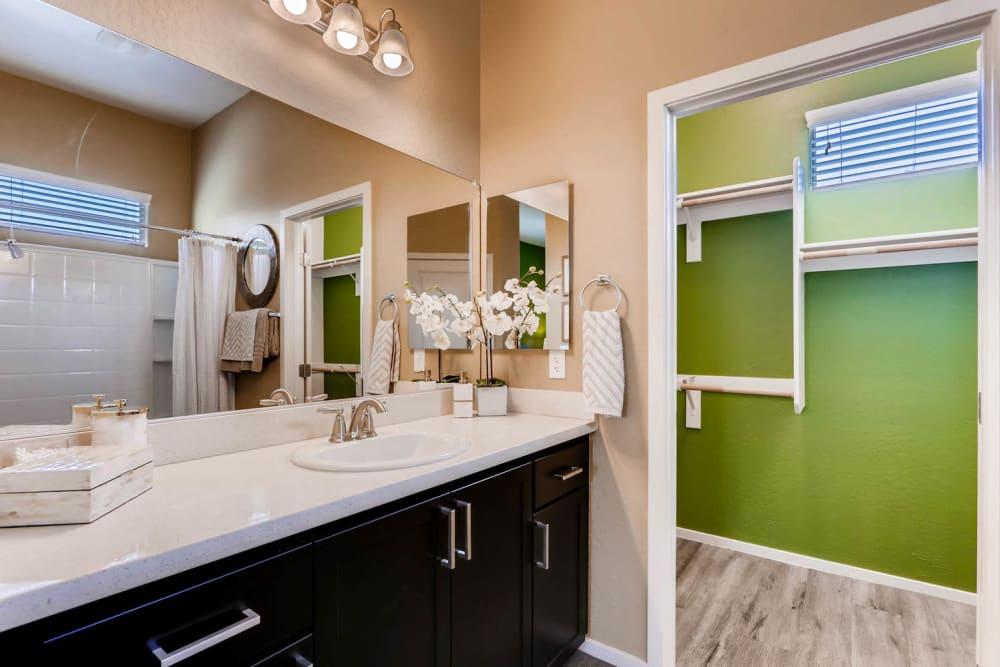 Master bathroom layout in Goodyear, Arizona at Avilla Centerra Crossings