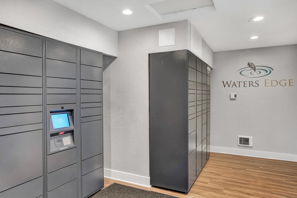 24-Hour Package center with Amazon HUB at Waters Edge Apartments in Kent, WA