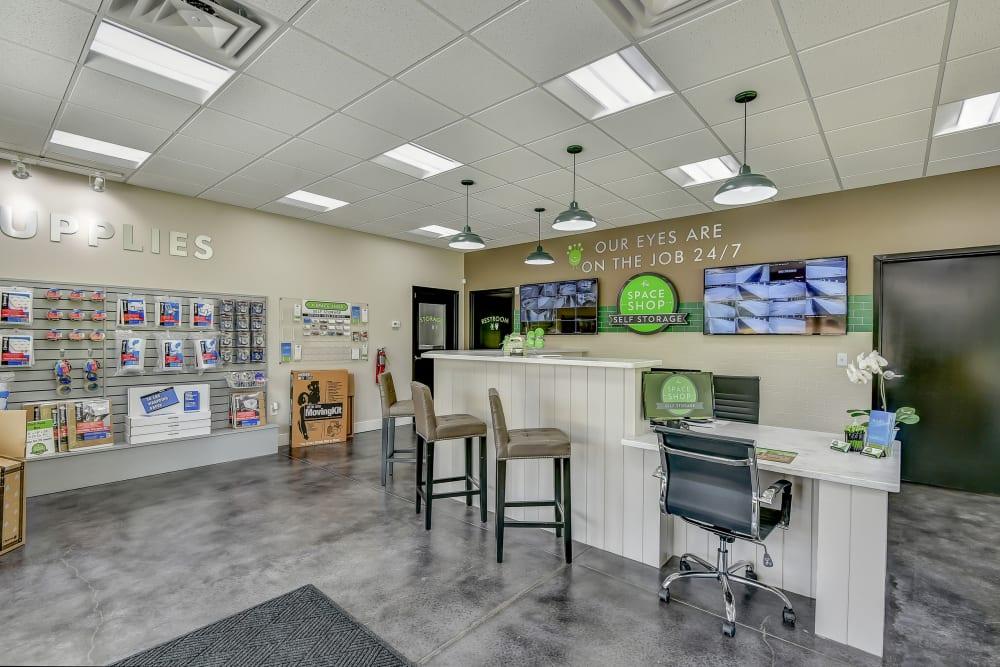 Office at Space Shop Self Storage in Hiram, GA
