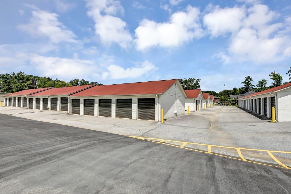 Exterior units at Space Shop Self Storage in Hiram, GA