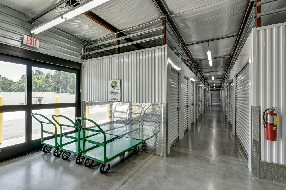 Interior units at Space Shop Self Storage in Hiram, GA