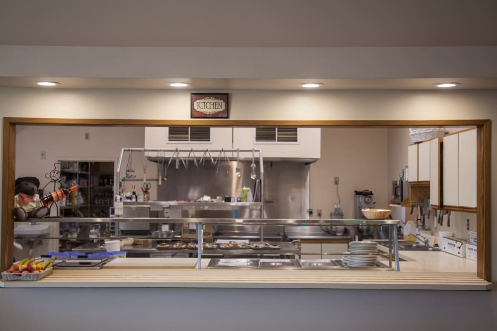 view of kitchen serving area