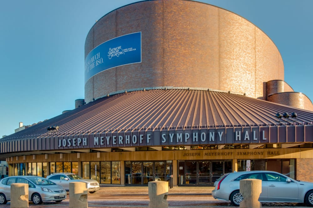 Symphony hall in Baltimore, Maryland near Nelson Kohl Apartments
