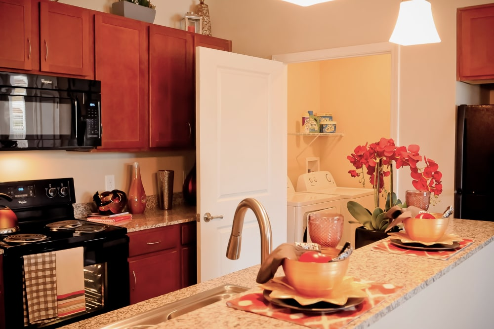 Modern kitchen in model home at Cantare at Indian Lake Village in Hendersonville, Tennessee