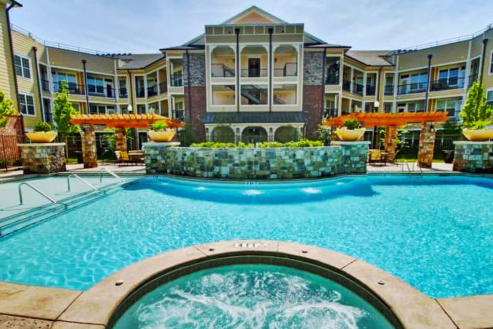 Swimming pool at Cantare at Indian Lake Village in Hendersonville, Tennessee