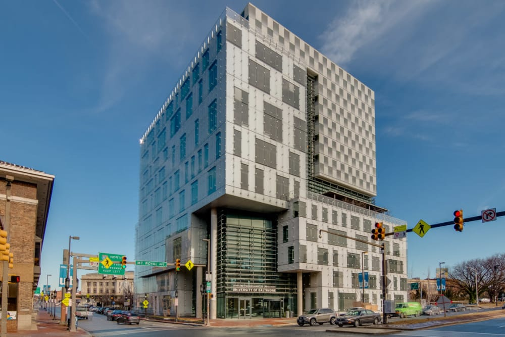 Modern designed building in Baltimore, Maryland near Nelson Kohl Apartments