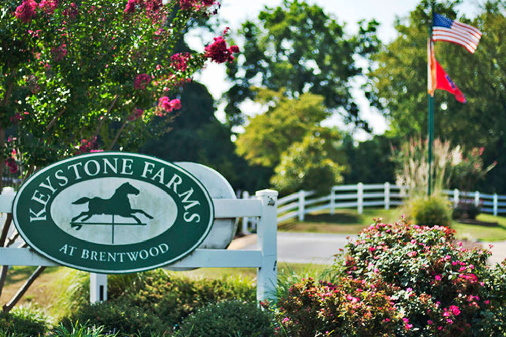 Our sign outside Keystone Farms in Nashville, Tennessee