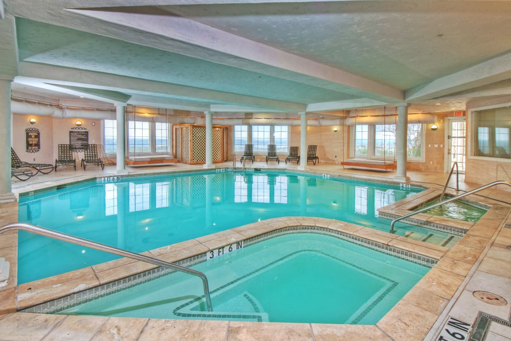 Indoor swimming pool at Meritage at Steiner Ranch in Austin, Texas