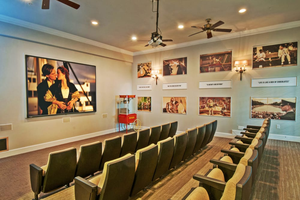 Onsite theater at Meritage at Steiner Ranch in Austin, Texas