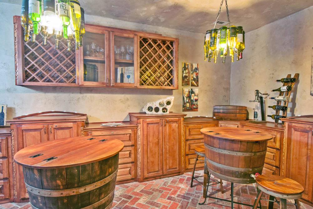 Resident wine cellar at Meritage at Steiner Ranch in Austin, Texas