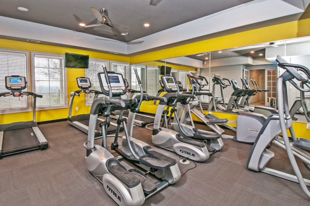 Onsite fitness center at Meritage at Steiner Ranch in Austin, Texas