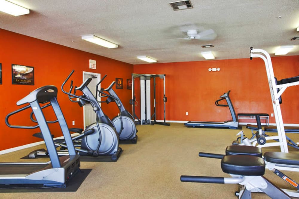 Onsite fitness center at Montelena in Round Rock, Texas