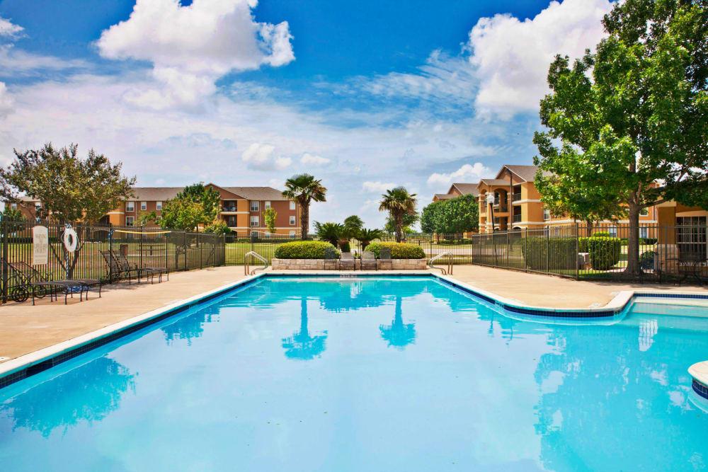 Beautiful swimming pool at Montelena in Round Rock, Texas
