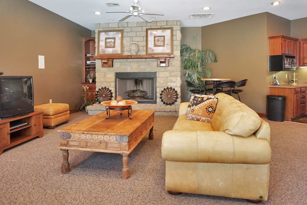 Well-decorated open-concept living area in model home at Renaissance St. Andrews in Louisville, Kentucky