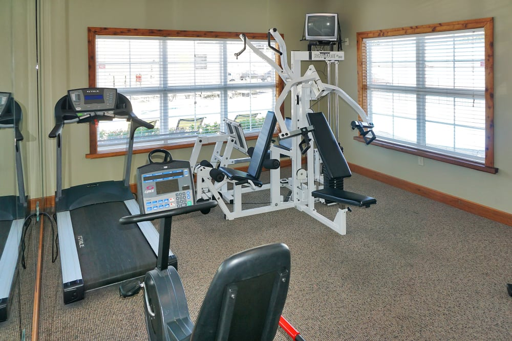 Plenty of equipment to help you stay fit in the fitness center at Renaissance St. Andrews in Louisville, Kentucky