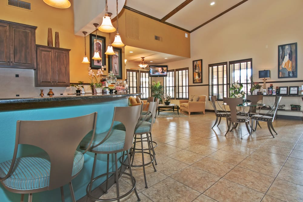 Resident clubhouse interior at Trails at Buda Ranch in Buda, Texas