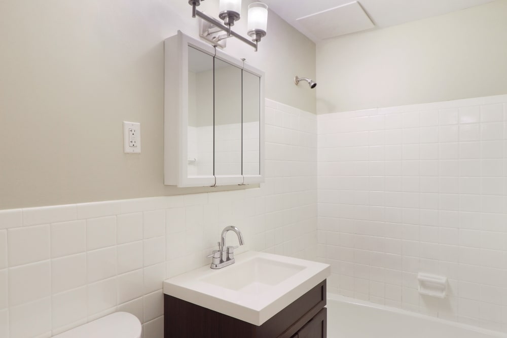 The Packard offers a beautiful bathroom in West Hartford, Connecticut