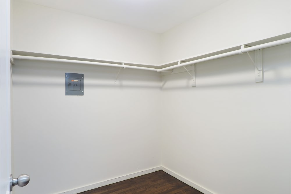 Enjoy beautiful walk-in closets at The Packard in West Hartford, Connecticut