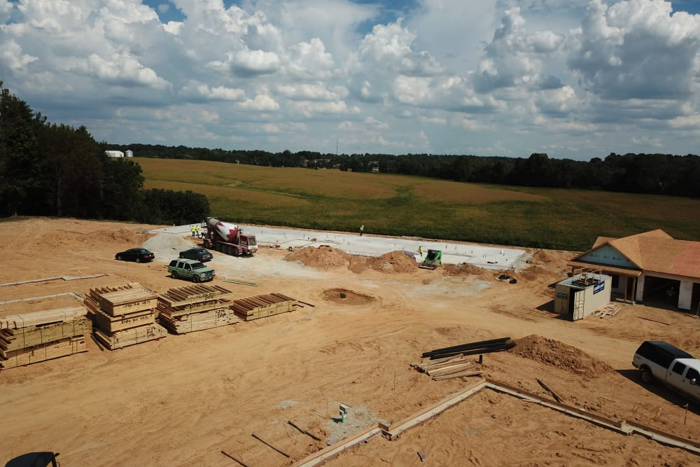 Start of Town Home 2 – Field View - 9-5-18
