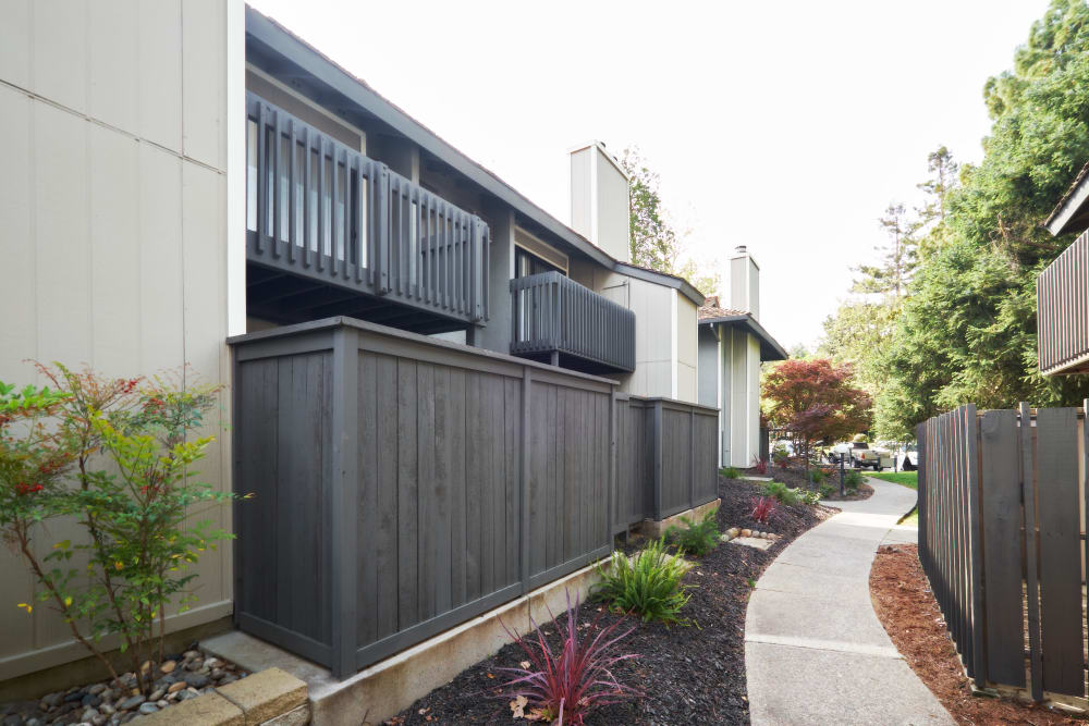 Patios and balconies at Marquee in Walnut Creek, California