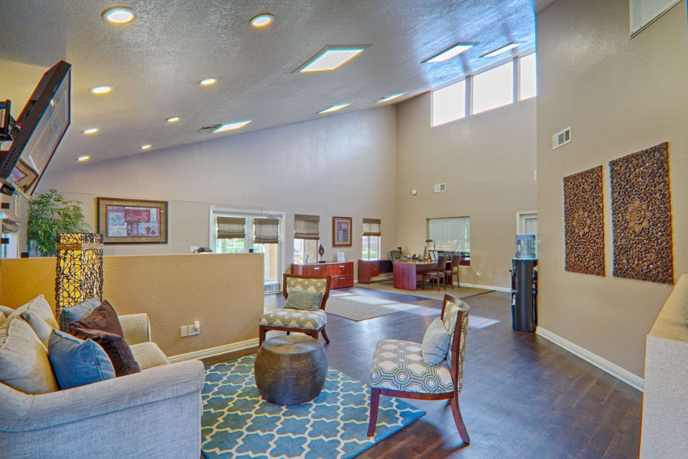 Community area at Granada Villas Apartment Homes in Lancaster, California