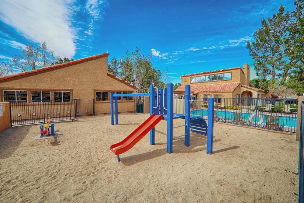 Community playground at Granada Villas Apartment Homes in Lancaster, California