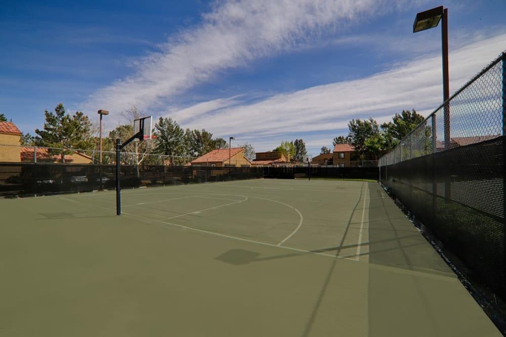 Community basketball court in Lancaster, California at Granada Villas Apartment Homes