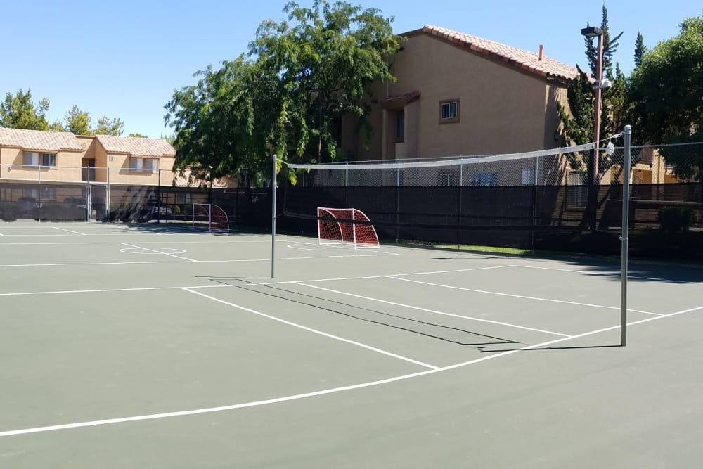 Volleyball court at Granada Villas Apartment Homes in Lancaster, California