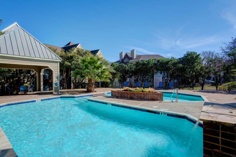 Beautiful swimming pool at Preserve at Wells Branch in Austin, Texas