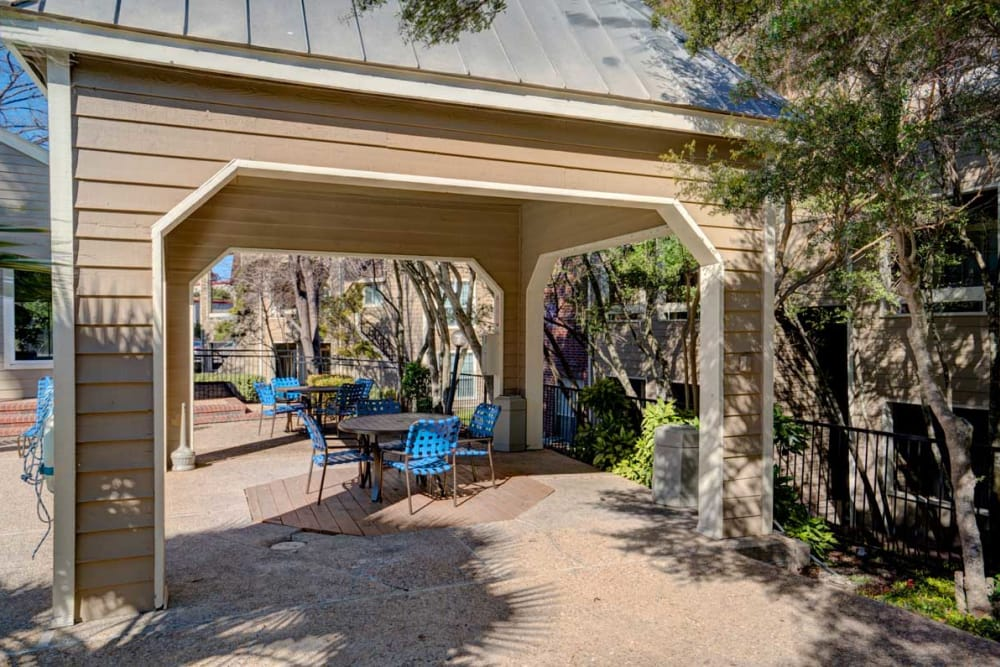 Exterior dining area at Preserve at Wells Branch in Austin, Texas