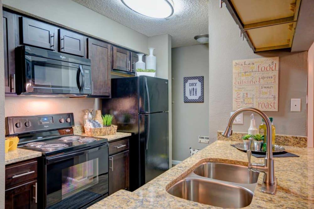 Modern kitchen at Preserve at Wells Branch in Austin, Texas