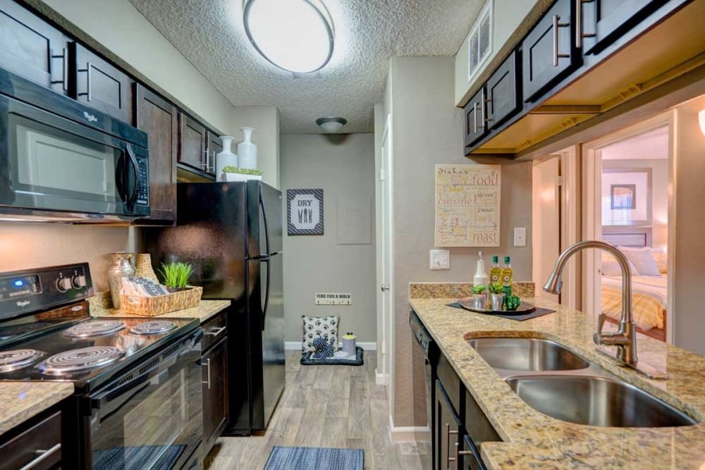 Well equiped kitchen at Preserve at Wells Branch in Austin, Texas
