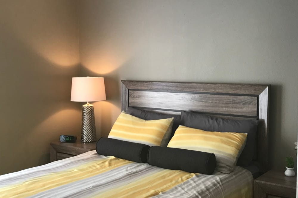 Master bedroom at Preserve at Wells Branch in Austin, Texas