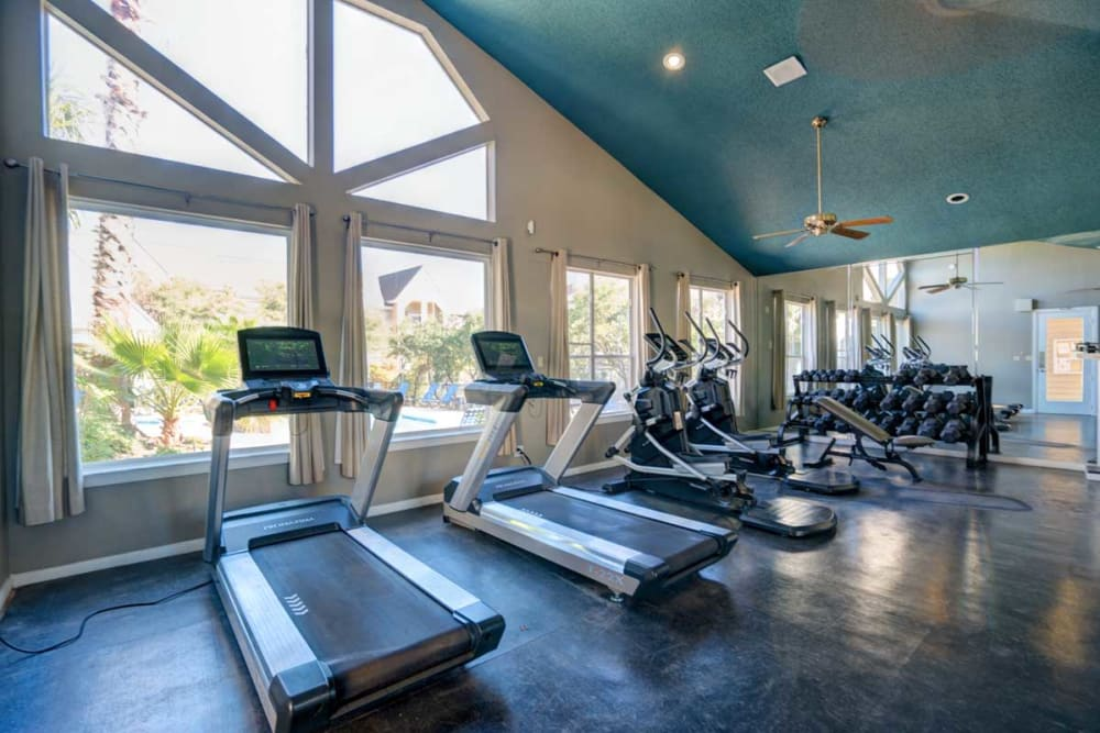 Modern fitness center at Preserve at Wells Branch in Austin, Texas