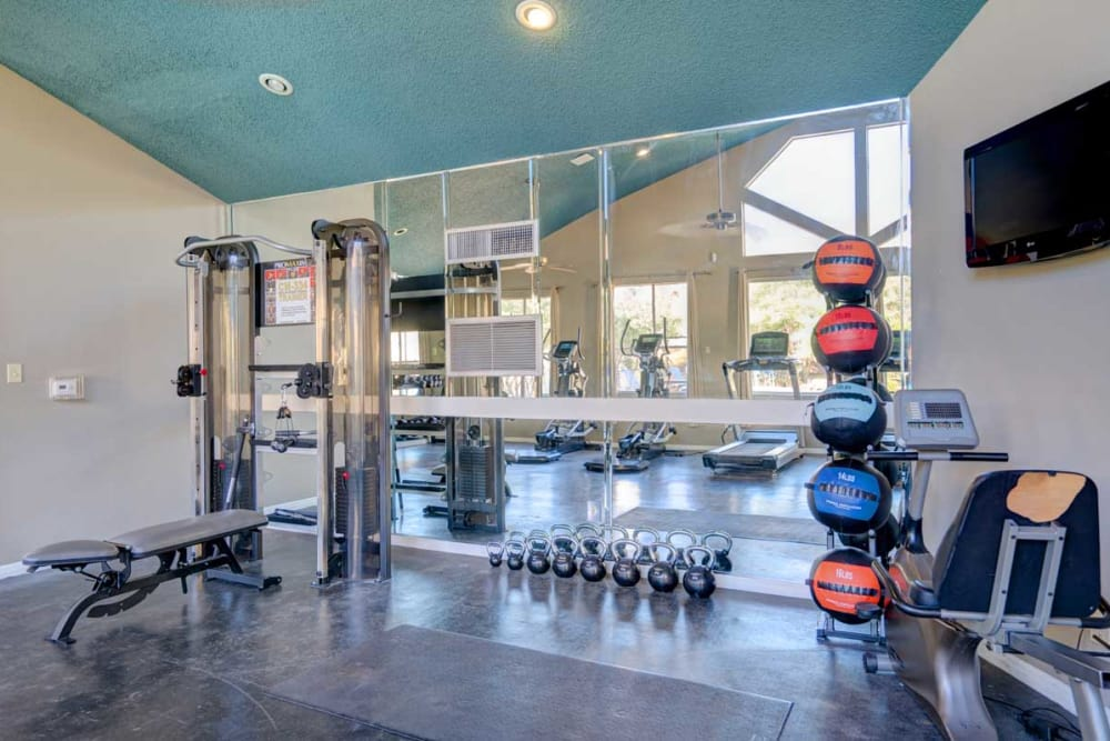 Preserve at Wells Branch offers a fitness center in Austin, Texas