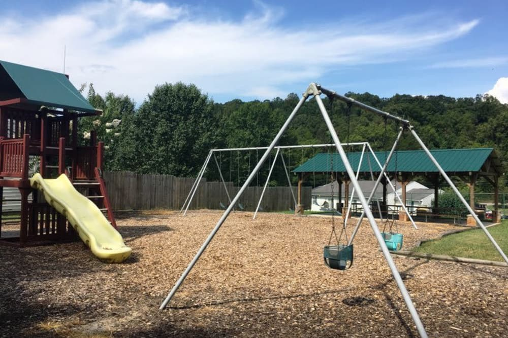 Onsite playground at Willow Run in Clinton, Tennessee