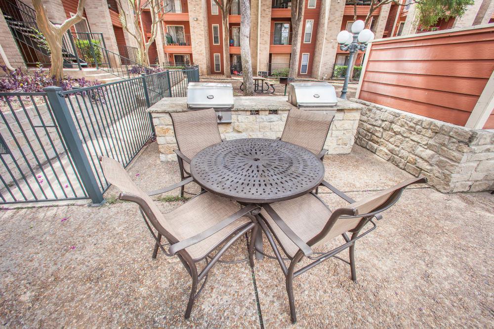 Barbecue area at Ashley Oaks in San Antonio, Texas