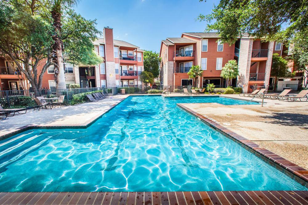 Sparking swimming pool at Ashley Oaks in San Antonio, Texas