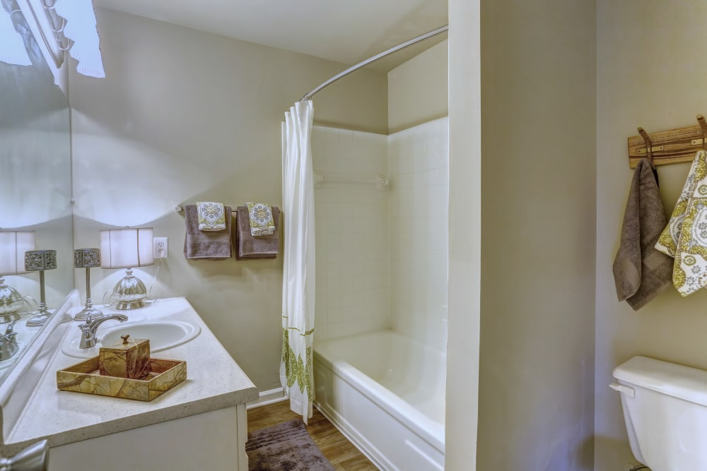 Beautiful bathroom at Lincoya Bay Apartments & Townhomes in Nashville, Tennessee