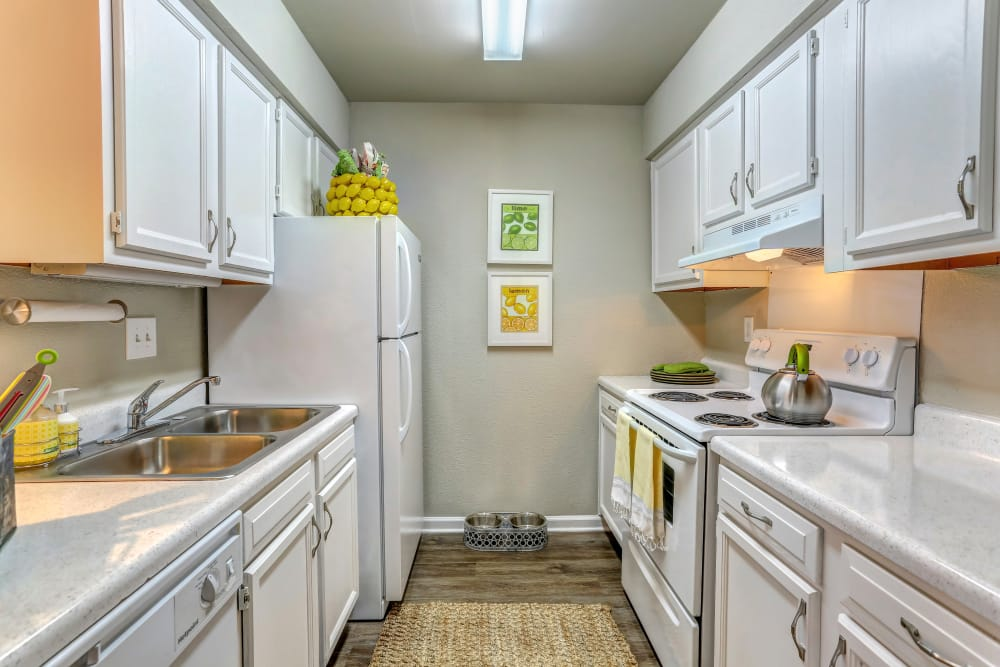 New renovated kitchen at Lincoya Bay Apartments & Townhomes in Nashville, Tennessee