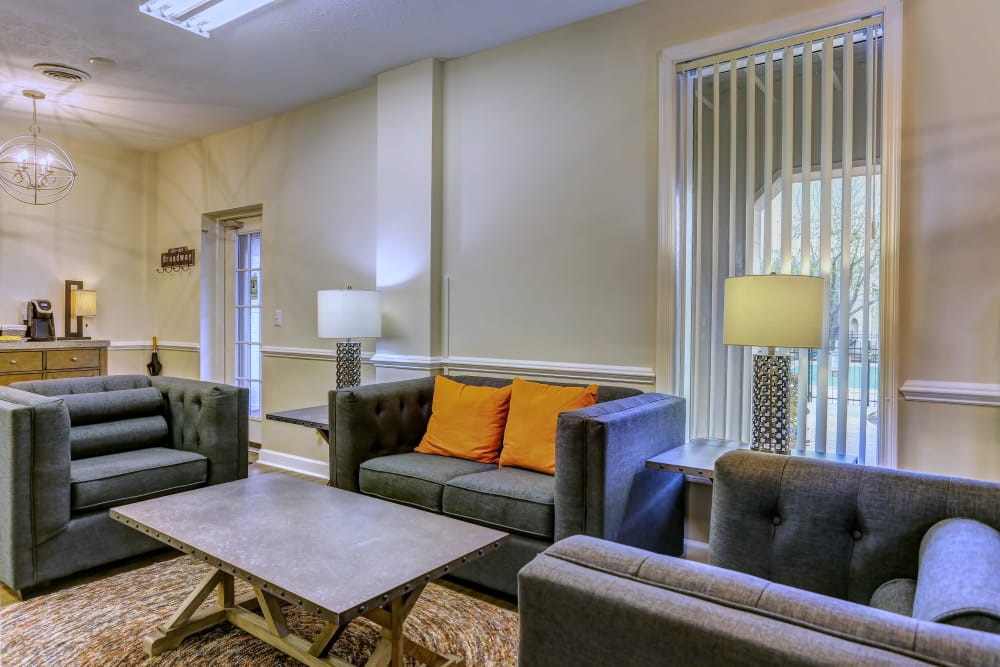 New renovated living room at Lincoya Bay Apartments & Townhomes in Nashville, Tennessee