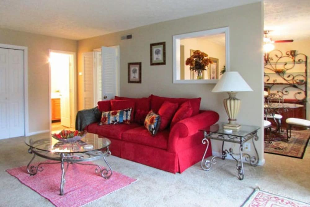 Living room at Hickory Creek Apartments & Townhomes in Nashville, Tennessee