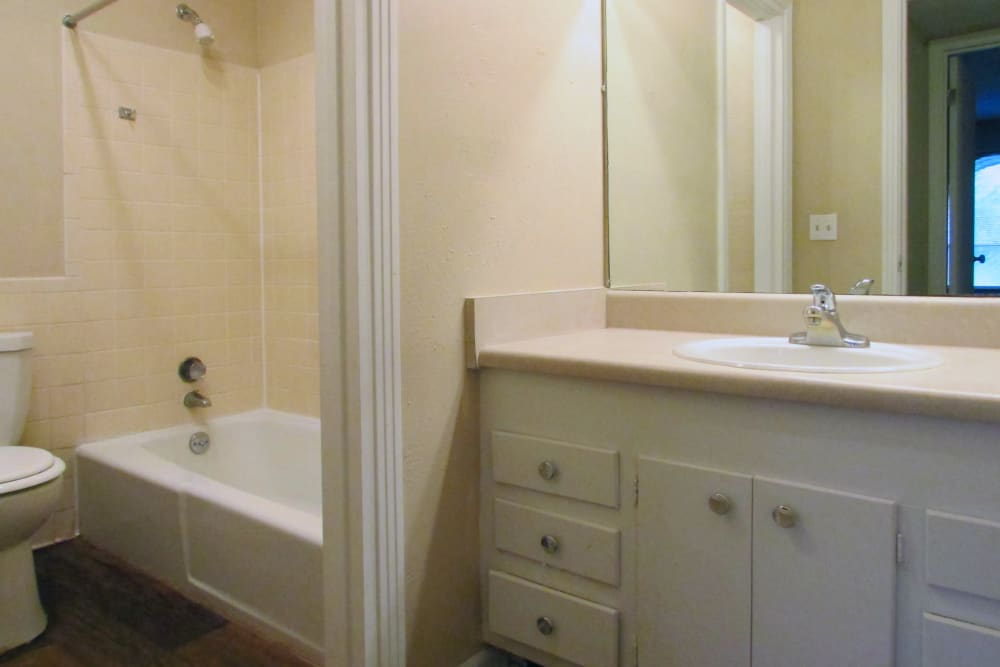 Bathroom at Hickory Creek Apartments & Townhomes in Nashville, Tennessee